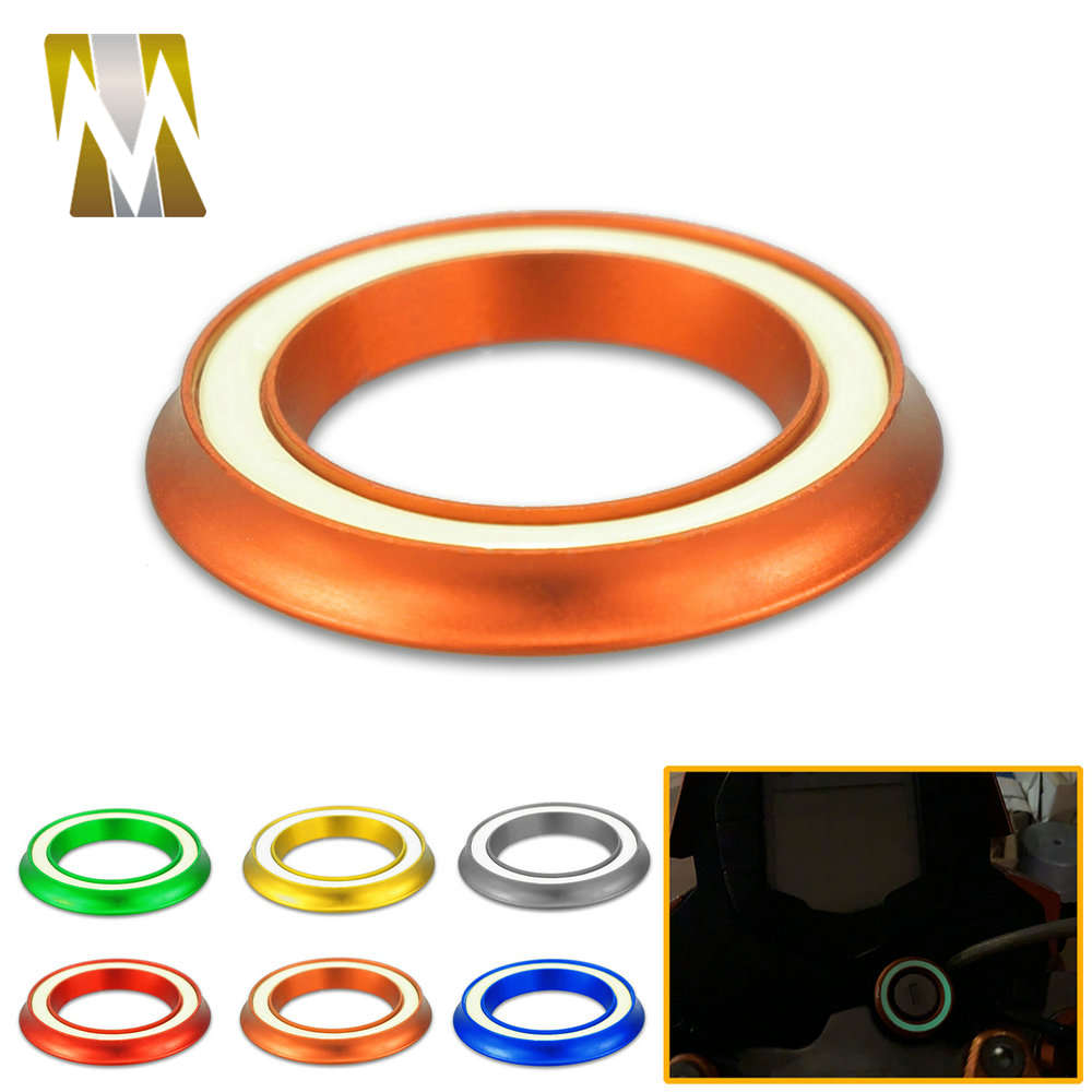 For KTM DUKE RC 125 200 250 390 690 1090 2017 2018 2019 Accessories Ignition Switch Key Hole Luminous Ring Cover DUKE390 RC690