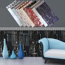 Waterproof Marble Tile Sticker Wallpaper Border Removable Wall Decor 40 x 100cm