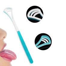 Скребок для чистки языка, щетка для чистки рта, щетка для чистки языка, инструмент для гигиены и свежего дыхания, инструмент для чистки зубов в автомобиле, случайный цвет
