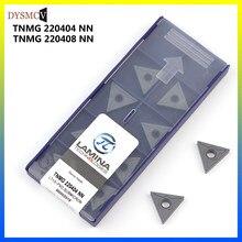 LÂMINA 100% original TNMG220404 / 08 NN LT10 ferramenta de tornear cilíndrico carboneto TNMG 220408 PVD lâmina torno CNC fresa