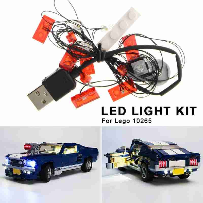 LED Licht Set Für Lego 10265 Montiert Bausteine Kit LED Licht Kit Fahrzeug Technologie Serie Montage Spielzeug