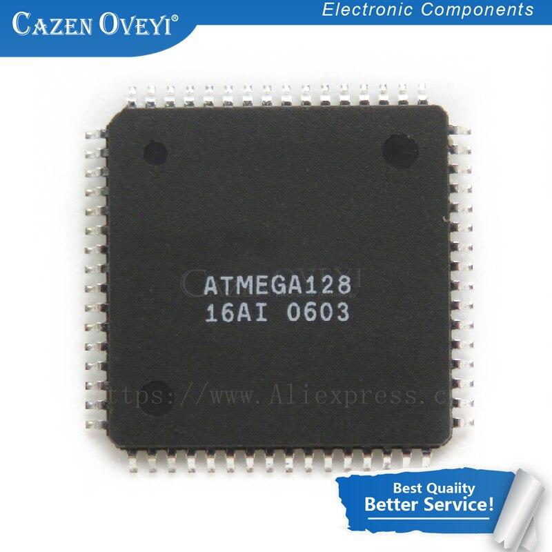 2 шт./лот ATMEGA128-16AU ATMEGA128 QFP64 8-битный микроконтроллер с 128 К байт в системы программируемый Flash в наличии