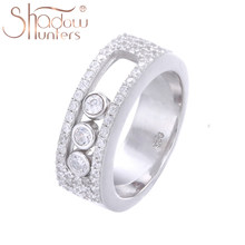 SHADOWHUNTERS –Bague pour femme, bijou 100% en argent fin 925 véritable, pierre, cristal, fabrication de joaillerie, vente en gros
