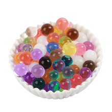 Crystal Soil Mud Hydrogel Gel Kids Children Toy Water Beads Growing Up Orbiz Water Balls Wedding Home Decor Potted 100pcs/log F(China)