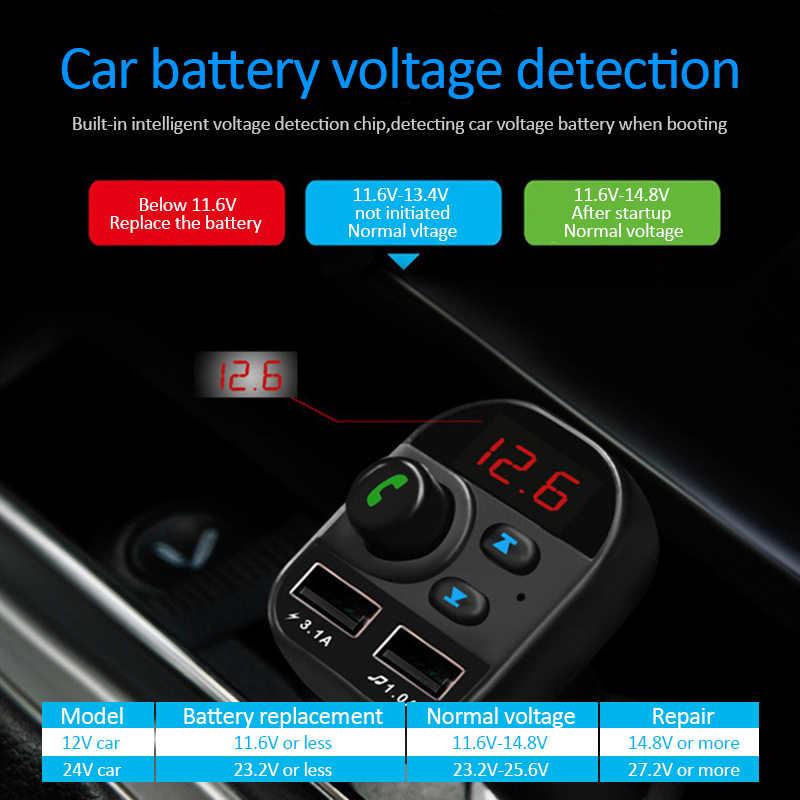 車のbluetoothキットfmトランスミッター車MP3 ラジオアダプタ 2 usb充電器fm変調器の装飾品