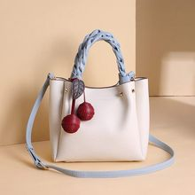 Vento Marea Female Bucket Shoulder Bags For Women 2019 New White Tote Handbag Cherry Design Leather Ladies Hand Cross Body Purse