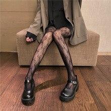 Bow Tights Fashion Pantyhose Print White Black Womens Hosiery-Fish-Net Flower-Design