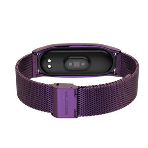 Image 4 - NFC Global Correa Mi Band 5 Strap Bracelet For Xiaomi Mi Band 4 Metal Stainless Steel Mi Band 3 Strap Smart Wristband Mi Band 5