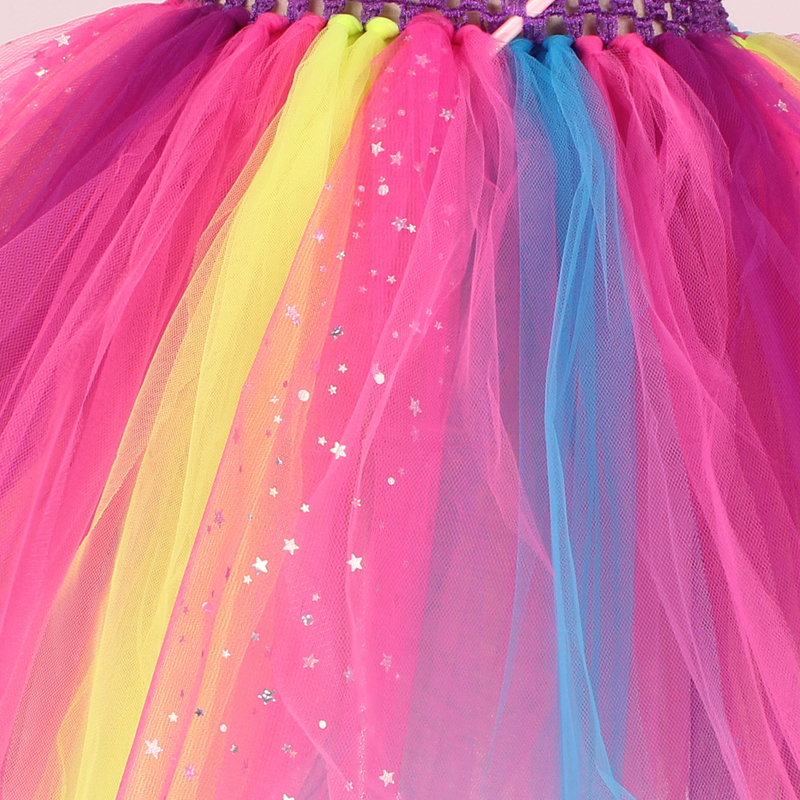 Girls Butterfly Fairy Fancy Tutu Dress Wings Costume Kids Princess Birthday Party Dress Halloween Cosplay Kids Spring Tulle Dress (11)