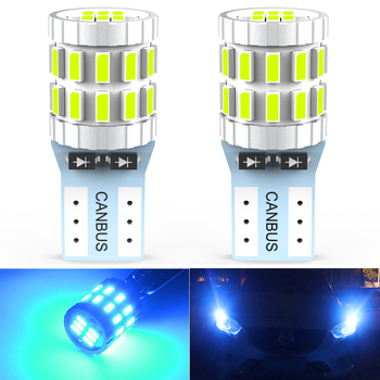 2x T10 W5W LED Bulbs Canbus Car Parking Position Clearance Interior Map Dome Light For Audi A3 8P A4 6B BMW E60 E90 3014 30SMD image