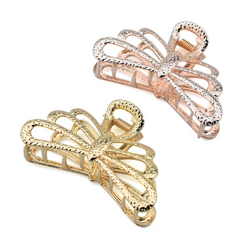 Gold Dragonfly Hair Claw Clips for Women Accessories Metal Crab Rose Hairpin Hairclip Girls Fashion Luxury Jewelry Gifts