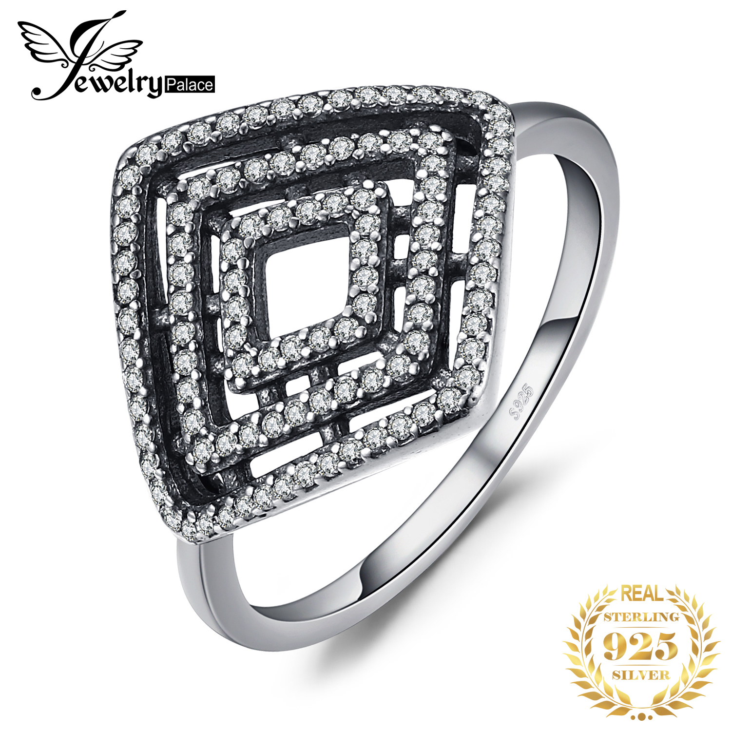 Jewelrypalace Glitter Flora Silver Beautiful Ring 925 Sterling Silver Gifts For Her Anniversary Fashion Jewelry New Innrech Market.com