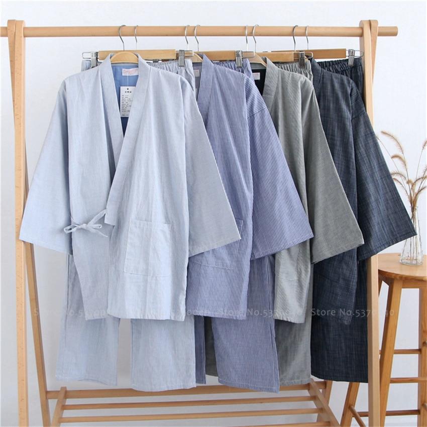 Kimono Sleepwear Man Women Couples Japanese Traditional Yukata Robes Pajamas Sets Haori Ao Dai Nightgown Pyjamas Hanfu Tang Suit