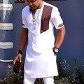 Футболка мужская средней длины, короткий рукав, контрастных цветов, в стиле пэчворк, незакрепленный топ в африканском стиле, футболка оверс...