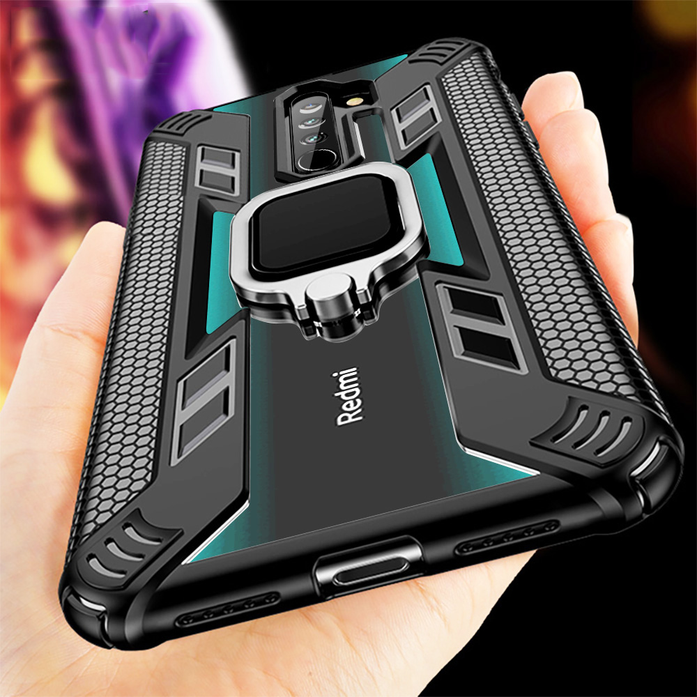 For Xiaomi Redmi <font><b>Note</b></font> 9s <font><b>Case</b></font> Stand Car <font><b>Ring</b></font> Phone Shockproof Armor Cover for Redmi <font><b>Note</b></font> <font><b>9</b></font> Pro Max 8T 8 K20 <font><b>Note</b></font> 7 7s Pro Coque image