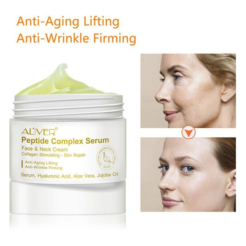 Neue ALIVER Anti-Falten Peptid Essenz Creme Feuchtigkeitsspendende Pflegende Anti-Falten Gesichts Creme Haut Bleaching Heben Creme