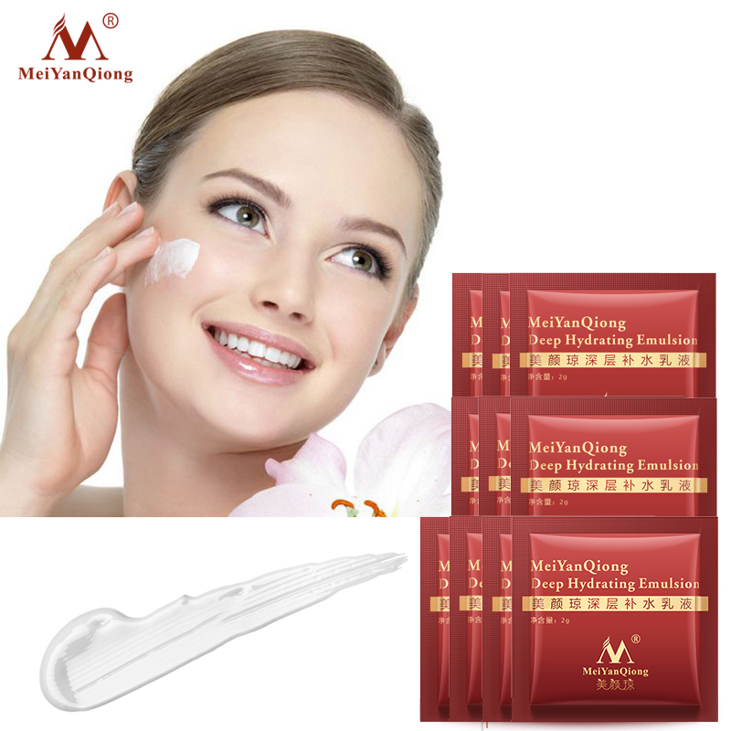 10pcs MeiYanQiong Hydrating Emulsion  Acid Moisturizing Skin Care Whitening Anti Winkles Lift Firming Beauty Day And Night Cream