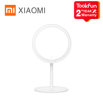 Xiaomi Mijia lusterko kosmetyczne z podświetleniem LED 2000mAh Ra92 trzy biegi 0 °-45 ° regulowane 900lux miękkie światło 6 5 cali HD posrebrzane lustro tanie i dobre opinie NONE CN (pochodzenie) MJHZJ01-ZJ Gotowa do działania 2020 341 83*203*176 5mm 530g
