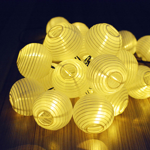 Image 4 - שמש עמיד למים ניילון עגול הסיני נייר פנסי יום הולדת חתונה מתנת מלאכת DIY מפיון תליית כדור ספקי צד
