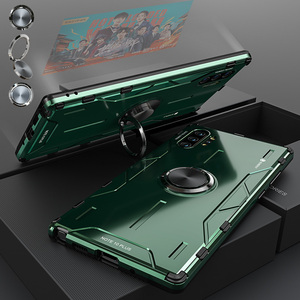 Image 1 - For Samsung Galaxy Note 10 Plus Metal Case Aluminum Alloy Military Armor Ring Stand Case for Samsung Note 10 S10 Plus S20 Ultra