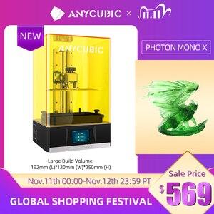ANYCUBIC Photon Mono X 3D Printer 8.9 inch 4K LCD UV Resin Printers 3D Printing High Speed APP Control 3D Printers