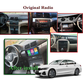 Auto Radio Android 10 Car Stereo for BMW E46 M3 318/320/325/330/335 Car GPS Navigation Radio Multimedia