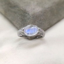 Branch-Rings Natural-Moonstone 925-Sterling-Silver Jewelry Finger-Bague Wedding-Engagement