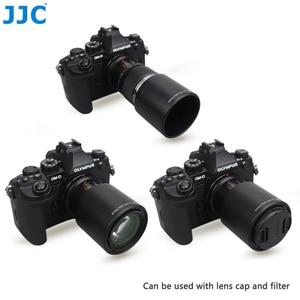 Image 1 - JJC הפיך מצלמה עדשת הוד עבור אולימפוס M. ZUIKO הדיגיטלי ED 60mm F2.8 מאקרו עדשה מחליף אולימפוס LH 49 עדשת הוד צינור