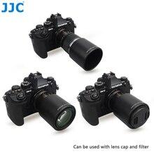 JJC odwracalna kamera osłona przeciwsłoneczna dla OLYMPUS M. ZUIKO DIGITAL ED 60mm F2.8 obiektyw makro zastępuje Olympus LH 49 osłona obiektywu