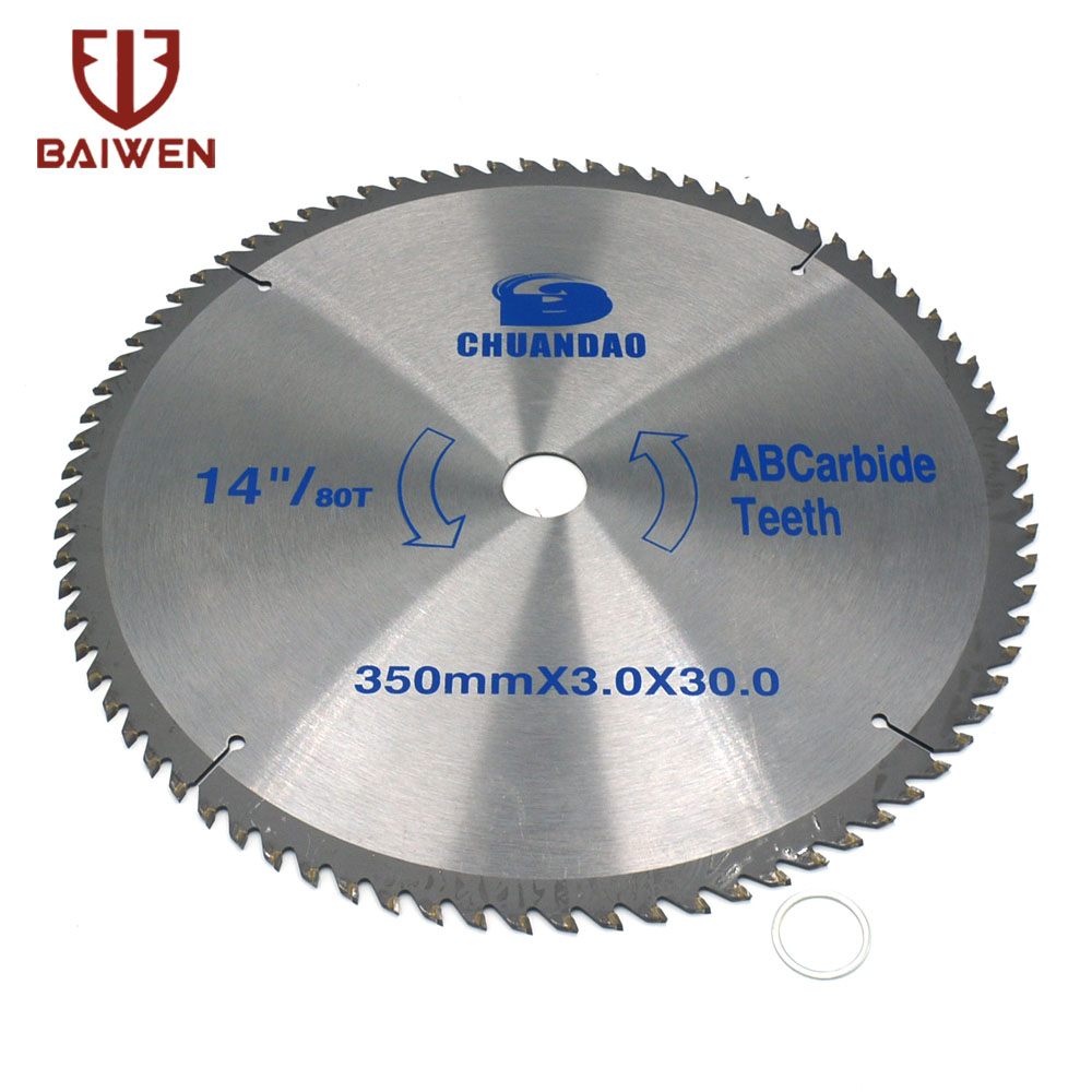 14 Inch Circular Saw Blade Carbide Alloy Cutting Disc Woodworking For Aluminum And Non Ferrous Metal Wood 60/80T/100T/120T