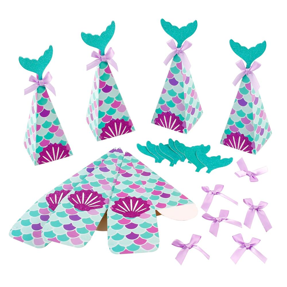 Frigg Mermaid Cookie Candy Gift Bags Mermaid Bag Kids Wedding Birthday Party Decor Unicorn Party Favor Kids Gift Fiesta Supplies