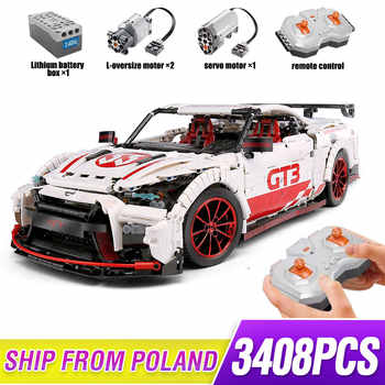 Creative series Moc Technic le Nismo Nissan GTR GT3 course de vitesse Sport ensemble de voitures blocs de construction briques jouets Lepining 25326