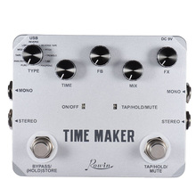 Rowin LTD-02 Guitar Time Maker Pedal Ultra Delay Effect Pedals For Electric Guitars 11 Types Delay With Tap Tempo Function