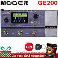 Mooer GE200 Amp modelowanie Multi efekt procesor pedał z 26 IR głośnik Cab Model 52 drugi Looper 55 wzmacniacz modele