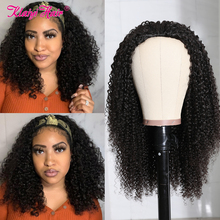 Half-Wig Wigs Remy-Hair Kinky Curly Klaiyi Natural-Color 100%Human-Hair Hair-Afro Machine-Made