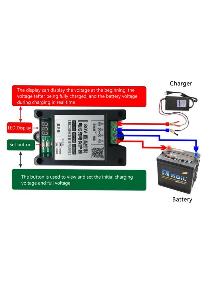 Competent Dc 5-80v 30a Lead-acid Lithium Battery Charging Controller Protection Board Auto