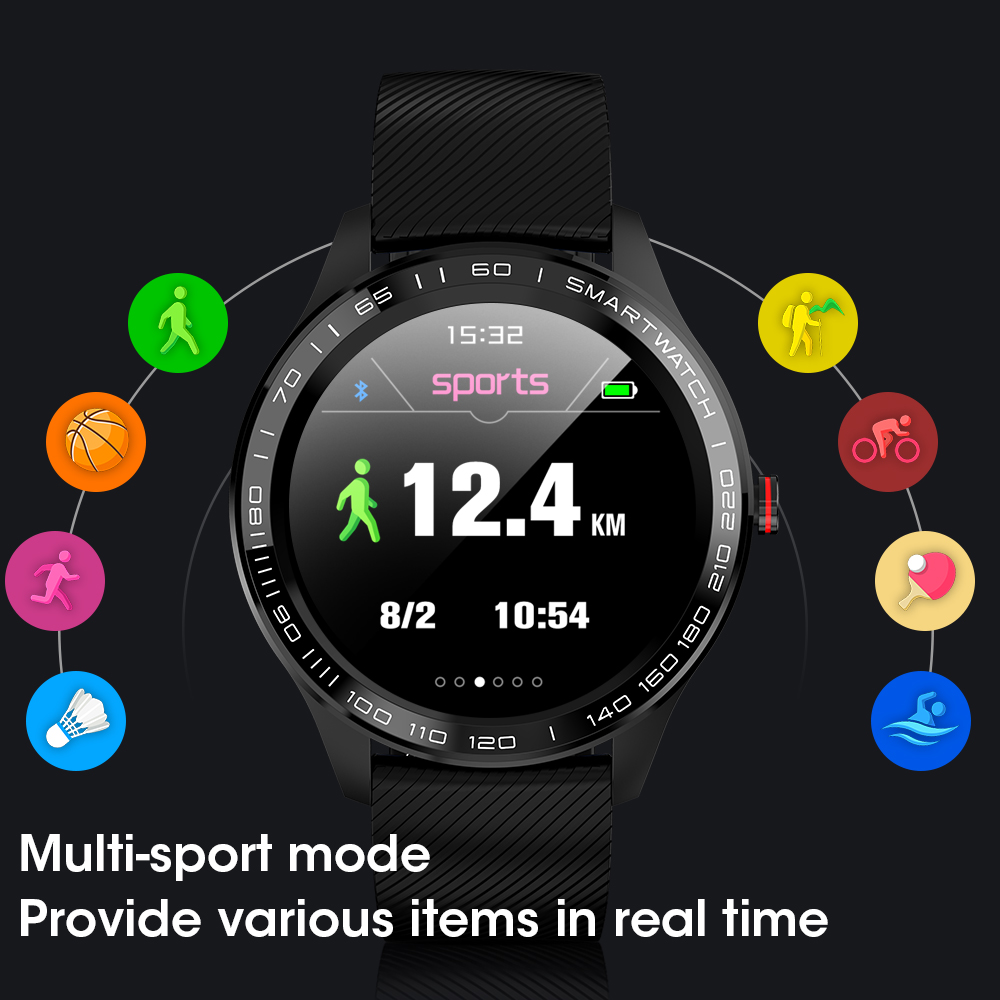 696 L9 Full touch Smart Watch Men ECG PPG Heart Rate Blood Pressure oxygen Monitor IP68 696 L9 Full touch Smart Watch Men ECG+PPG Heart Rate Blood Pressure oxygen Monitor IP68 Waterproof Bluetooth Smart Bracelet