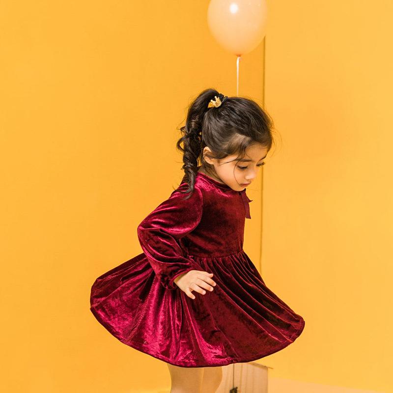 2019winter New Arrivals Christmas Season Dress Children's Quality Clothing Christmas Dress Girl Toddler Girl Winter Clothes