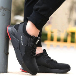 dewbest 2019 Mens fashion Safety Shoes breathable  light widened anti-smashing Steel Toe Work Boots Outdoor Sneaker 37-46