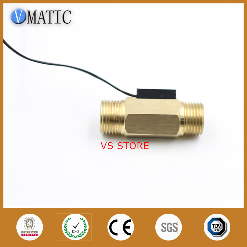 Free Shipping High Reliable Brass Calorifier Liquid Sensor Magnetic Flow Switch VC2260