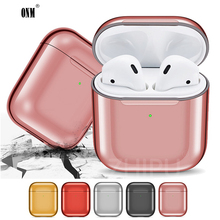 Luxury Protective Cover For Airpods 2 &1  Anti-fingerprint Charging Box Shockproof Case Air Pods Plating Earphone *