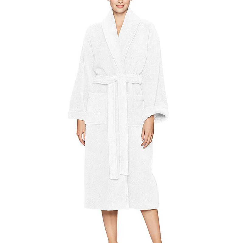Women Long Section Thick Flannel Warm Robe Cozy Fluffy Bathrobe Plush Night Dressing Couple Robes