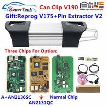 Can Clip Clip puce complète de Diagnostic pour Renault, version or cypress 2131QC, version cypress V190 + Reprog V175 1998 2019, 30 pièces/lot
