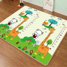 Ambiental bebê rastejando esteira do jogo dobrável tapete brinquedos para crianças tapete de segurança criança activitys jogos playmat