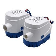 Pompe à eau automatique, 100gph, 750gph, 12/24V DC, Submersible pour moteur daquarium, bateau