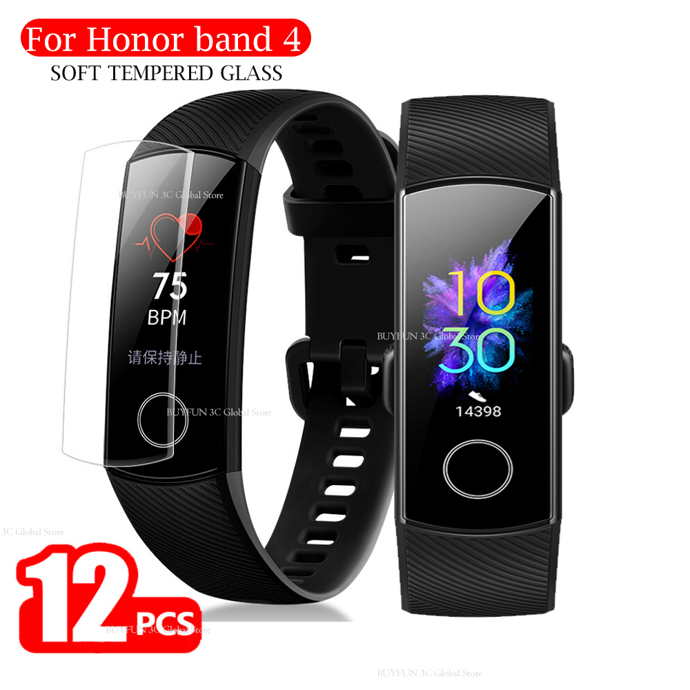 12pcs Honor Band 5 Screen Protector For Huawei Honor Band 4 Band4 Band5 Soft Film Smart Bracelet Accessories Not Tempered Glass