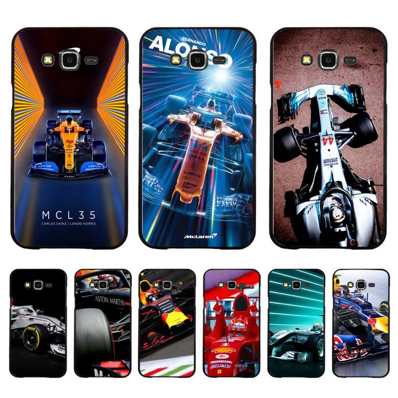 FHNBLJ Fórmula 1 la caja del teléfono de la cáscara del teléfono para Samsung A50 A70 A40 A6 A8 más A7 A20 A30 S7 S8 S9 S10 S20 Plus