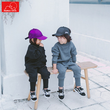 children autumn spring clothing set kids Solid color Sweatshirt boys girls casual Pullovers child clothes set