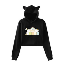 Sumikko Casual Hoodies Women Fashion Cotton Sweatshirts Teenager Girls Funny Harajuku Long Sleeve Hoodies Autumn Hooded Coat(China)