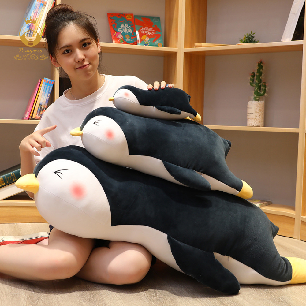 1PCS 30-100cm Cute Giant Penguin Stuffed Toy Soft Marine Stuffed Animal Doll Sleeping Pillow Cushion Fashion Toy For Kids